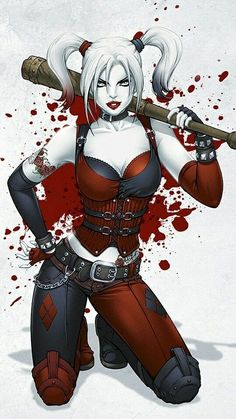 Harley Quinn, villain or not, is my favorite female character in the DC universe. Doctor by day, super villain by night, not to mention she's a babe! Her comic book origin story is why my first daughter will be named Quinn. Joker Y Harley Quinn, Harley Quinn Drawing, Dc Comics Art, Comics Girls, Ghost Rider, Harey Quinn, Der Joker, Es Der Clown, Gotham Girls