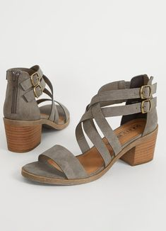 Solely Black by BKE Rocha Heeled Sandal - Women's Shoes in Grey Sandals Outfit, Women's Shoes Sandals, Women Sandals, Shoes Women, Grey Sandals, On Shoes, Fashion Boots, Sneakers Fashion, Shoes