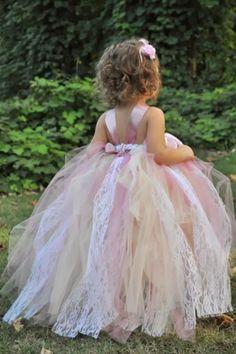 wedding flower girl ideas chic tulle type dress