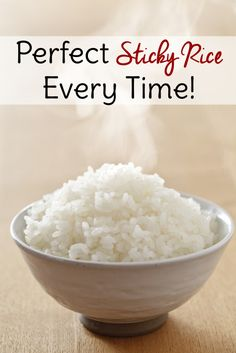 A fool-proof tip for how to make rice sticky every time!