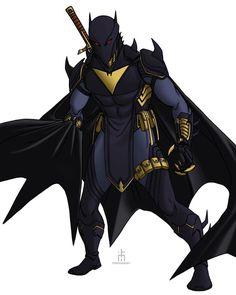 Black Bat, Big Black, Batman Fan Art, Batman Redesign, Batman Wonder Woman, Superhero Design, Armor Concept, Comics Universe, Dc Heroes