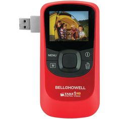 """This is a Bell Howell digital video camcorder with flip-out USB plug. This HD digital video camcorder has all the features that you are looking for in a camcorder. It has a 2.0"""" LCD screen that operates at..."""