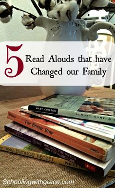 5 Read Aloud Activities that have changed our family because of their strong character developments and storylines. Read Aloud Books, Good Books, Books For Boys, Childrens Books, Homeschool Books, Homeschooling Resources, Homeschool Curriculum, Kids Reading, Reading Lists