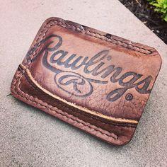 Minimalista cuero dos bolsillo monedero hecho de por PencraftersUSA