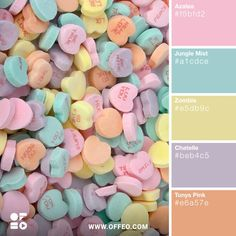 Fun light and soft pastel colors
