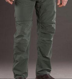 Liberator pants become shorts quick as a zipper.