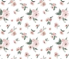 BlushFloral fabric by northeighty on Spoonflower - custom fabric