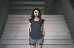 CUB lookbook spring/summer 2014 #polishfashion #fashion #cub #cub_wear #summer #cotton #natural #wild #grey #black #girl #concrete #industrial #look #city #Tshirt #free