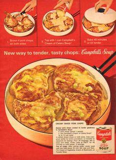 Campbell's Cream of Celery 1963 Ad - Pork Recipe - Sold