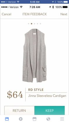 I've always wanted to try a longer style cardigan or possibly a vest-type thing
