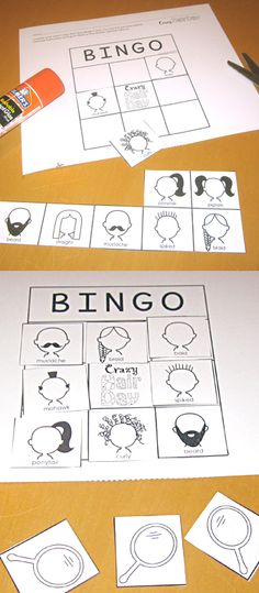 Crazy Hair Day Bingo printable.
