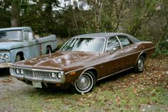 1972 Dodge Coronet 4 door, I was looking for my first car; I found it color and all....BUT, my first vehicle was a ratty 63 Dodge pickup,  see one in the pic?  Even the same color too, how scary