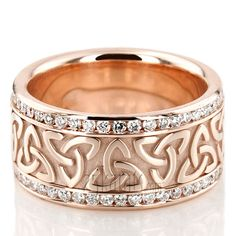 All-Around Diamond Celtic Wedding Ring