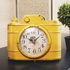YOURNELO Retro Mock Camera Silent Desk Shelf Clock Decorative Ornaments (Yellow)  #Camera #Clock #Decorative #Desk #Mock #Ornaments #Retro #RusticMantelClock #Shelf #Silent #yellow #YOURNELO The Rustic Clock