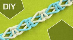 How to make Switch Knot / DIY Tutorial / So this is a great beginner's knot. This Square Knot pattern is made by switching the fillers and working cords. I recommend you use two colors to get the best results. This knot can be used to make a simple belt or other items can also be made with this knot. #HowTo #Switch #Knot