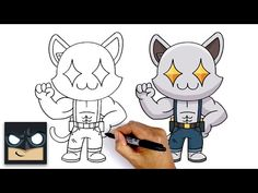 How To Draw Ghost Meowscles Sketch Pad, Step By Step Drawing, Pen And Paper, Learn To Draw, Cute Drawings, Art Tutorials, Colored Pencils, New Art, Chibi