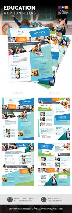 Buy Education Flyers 4 Options by Mike_pantone on GraphicRiver. Education Flyers 4 Options Clean and modern flyers for your educational center business. Education Galaxy, Education City, Education Center, Continuing Education, Kids Education, Texas Education, Education Quotes, Higher Education, Educational Activities For Kids