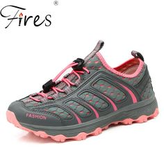 7d6cb2a7b33 Fires Summer Women Hiking Shoes Light Weight Sport Shoes Ladies Mesh Cool  Climbing Sneakers Couple Outdoor