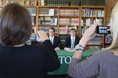 We like this shot of moms taking photos their boys at Delbarton's NCAA Letter signing.