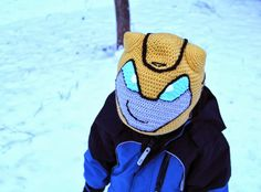 transformers bumblebee hat. I need to figure out how to make this!