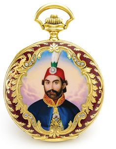 Indian Gold Jewelry Near Me Black Ottoman, Miniature Portraits, Antique Watches, Ottoman Empire, Beautiful Watches, Pendant Jewelry, Vintage Antiques, Badge, Crystals