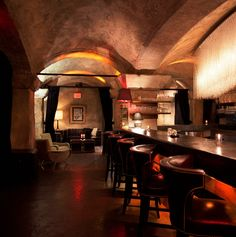 The exclusive LA nightclub and celebrity watering hole Teddy's at the Hollywood Roosevelt