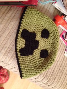 Minecraft creeper inspired hat