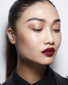 Dark cherry lips for Autumn