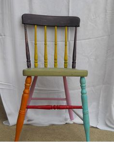 funky furniture ideas. Art Deco Hand Painted Chair By Giorgiocelmo On Etsy, $125.00 Funky Furniture Ideas O