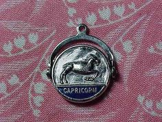 Vintage Sterling Capricorn Zodiac Spinner Charm December/January