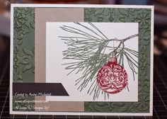stampwithamber - Amber Meulenbelt, independant Stampin' Up! Image C, Couple Weeks, Crates, Stampin Up, Pine, Amber, Christmas Cards, Ornaments, Blog