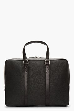 KENZO Black etched leather 48h Briefcase