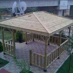 Kamelya 20 Small Backyard Design, Small Backyard Gardens, Small Patio, Patio Design, Grill Gazebo, Backyard Gazebo, Pergola, Contemporary Patio, Garden Buildings