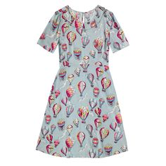 Hot Air Balloons Pleated Neck Dress | New In Fashion | CathKidston