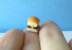 tiny White Castle burger