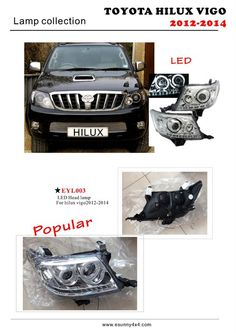 LED Head lamp for Hilux vigo 4x4 Accessories, Toyota Hilux, China, Led, Alloy Wheel, This Or That Questions, Trucks, Truck, Porcelain