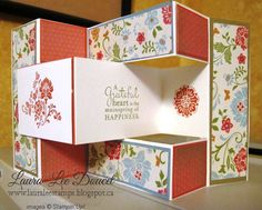 Trifold card using Designer Series Paper from Stampin'Up!