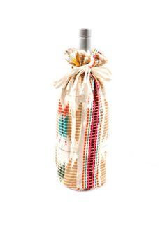 Judith March Aztec Jacquard Wine Bag (Neutral Multi) – DejaVu