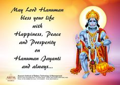May Lord Hanuman bless your life with Happiness, Peace and Prosperity on Hanuman Jayanti and always... #AIBTM