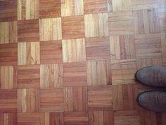 piso de parquet damero usado