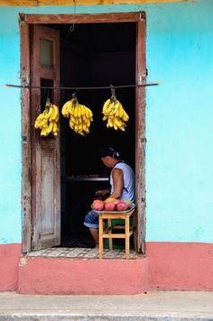 Fruit for sale . Cuba