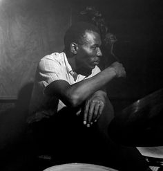 Elvin Jones at a Blue Note Records session - 1964. Photo by Francis Wolff
