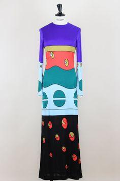 LOUIS FÉRAUD 1970s Vintage Evening Maxi Dress by OhJackieSoVintage