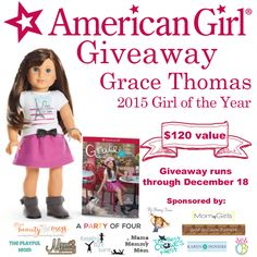 You Could Win! American Girl's 2015 Girl of the Year: Grace Thomas - Enter today! Homemade Teacher Gifts, Best Gin, American Girl Clothes, Fathers Day Gifts, Cool Girl, Giveaway, Dolls, Fun, Kids
