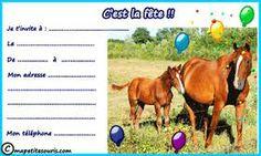 Invitation anniversaire cheval1