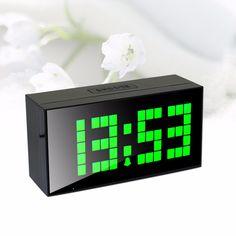 Ch KOSDA Digital LED relógio relógio de parede relógio Horloge Snooze calendário data de alarme de mesa de cabeceira nova alishoppbrasil