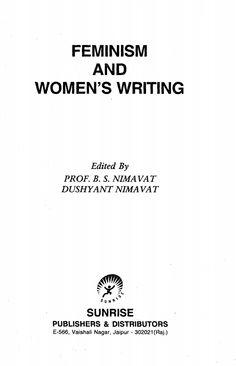 Feminism and Women's Writing - B.S. Nimavat and Dushyant Nimavat - eBook