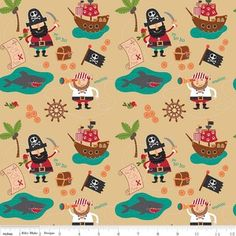 Designs by Dani - Blackbeards Pirates - Blackbeard Main in Gold