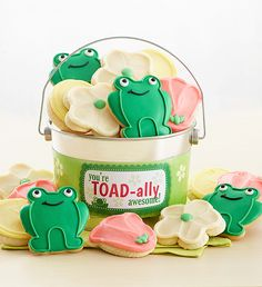 Toad Ally Awesome Buttercream Frosted And Crunchy Cookie Pail