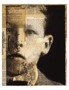 Michelle Caplan - mixed media, text layering
